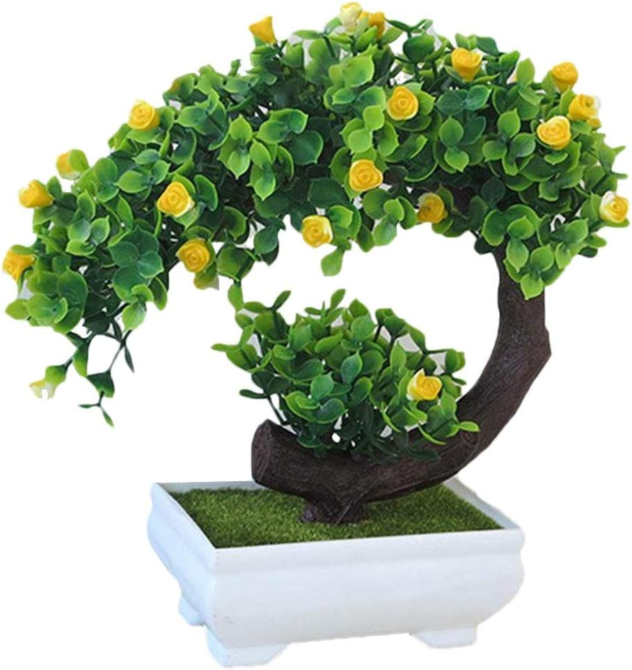 bonsai artificiale a forma di mezzaluna di rose comme montr/é Gaeruite Violet una pianta artificiale con fiori finti in un vaso