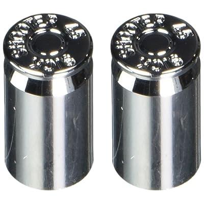 Sickshooter .45 Caliber Shell Valve Stem Caps (SuperChrome), 2 pieces: Automotive