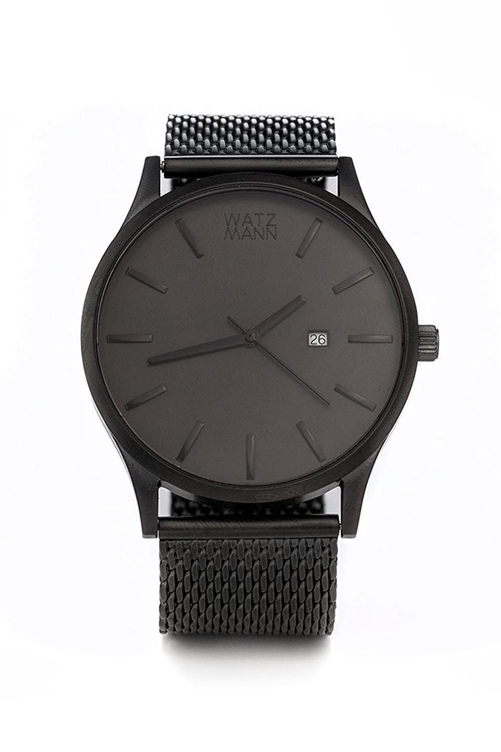 WATZMANN watch -- grey mesh edition - minimalistische Herrenuhr