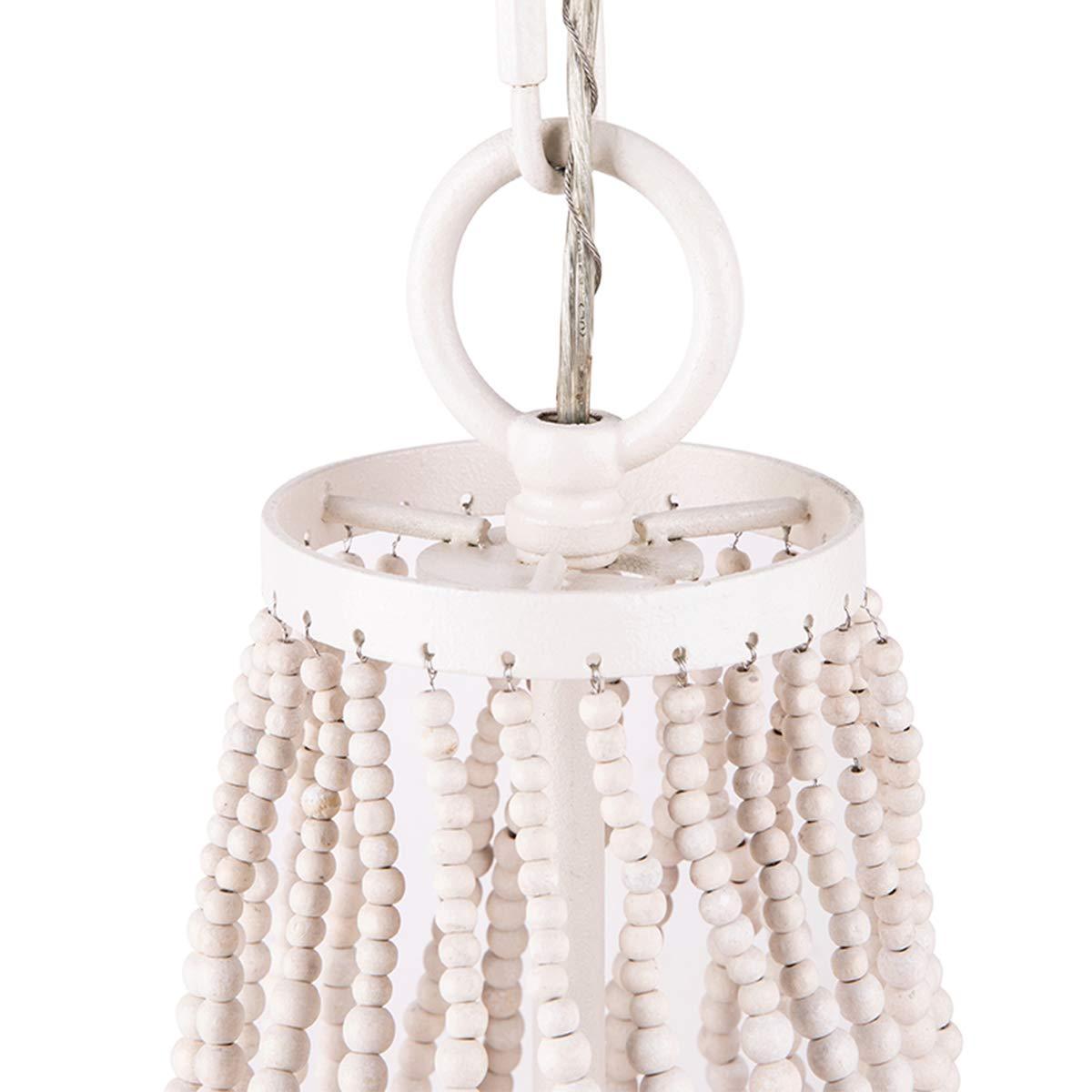 Beaded Chandelier, Morden Fort White Beaded Chandelier 5 Lights for Living Room Bed Room Dining Room