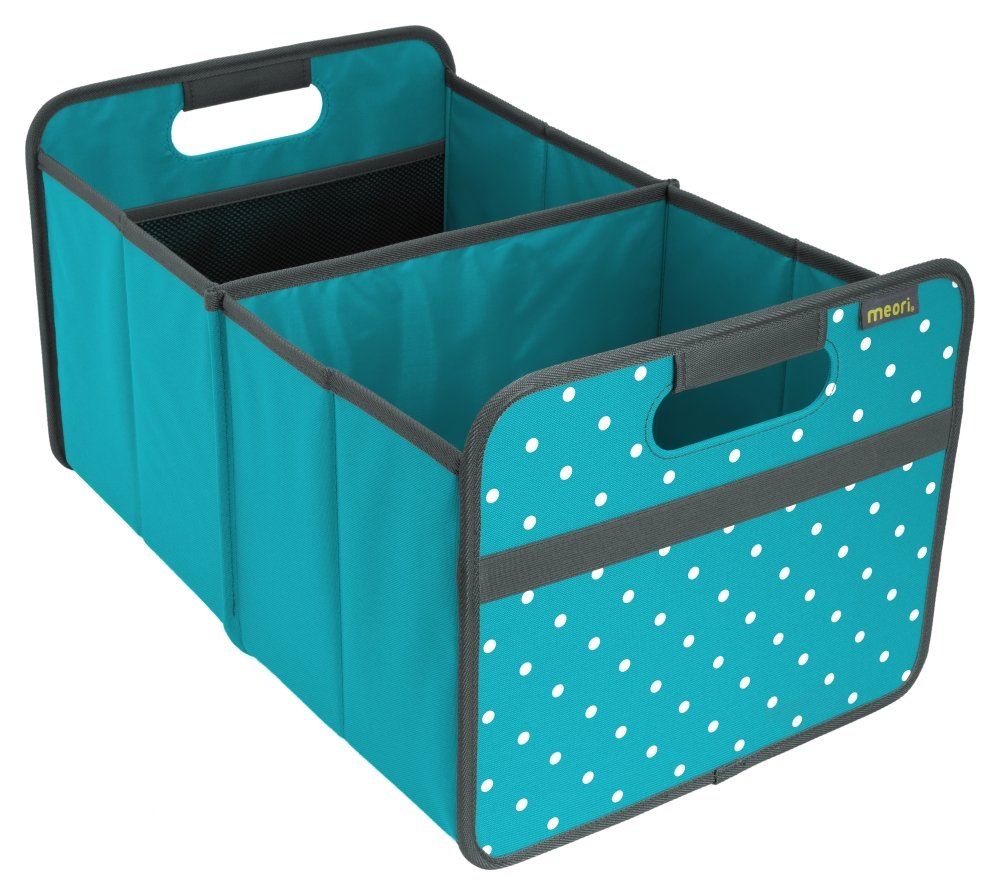 meori Classic Collection Large Foldable Storage Box, 30 Liter/8 Gallon, in Azure Blue To Organize and Carry Up To 65lbs A100013
