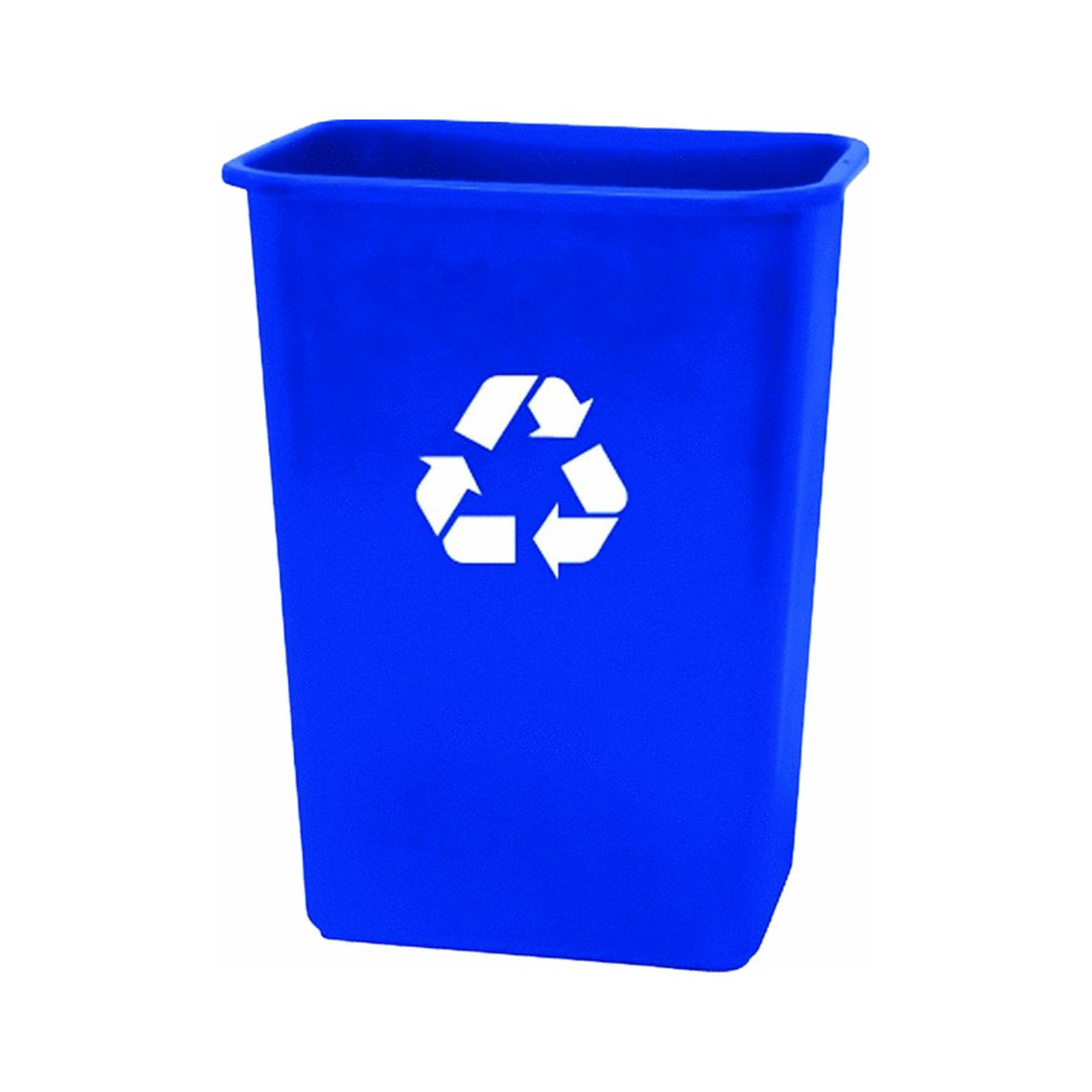 United Solutions EcoSense WB0069 Blue Plastic 41 Quart Recycling Indoor  Wastebastket 10.25 Gallon EcoSense Blue Recycling Trash/Refuse Can In Blue