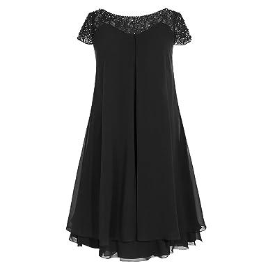 389eab67d77 Landress Women s Scoop Neck Sleeveless Chiffon Mother of The Bride Dresses  Knee-Length(2