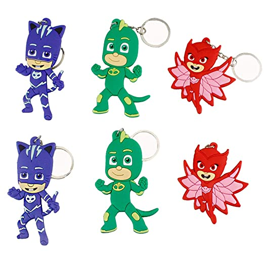 Earlywish - 6 llaveros para PJ Masks Goodie Bag Stuffer ...