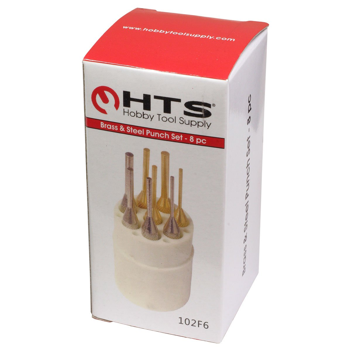 HTS 102F6 8 Pc Brass /& Steel Pin Punch Set