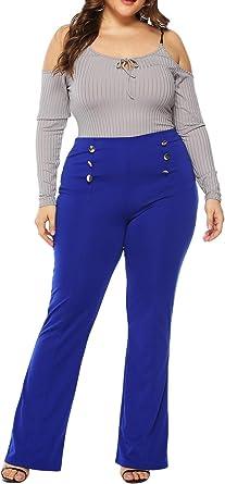 Sevozimda Pantalones De Mujer De Talla Grande Para Trabajar Pantalones De Oficina De Talle Alto Amazon Es Ropa Y Accesorios