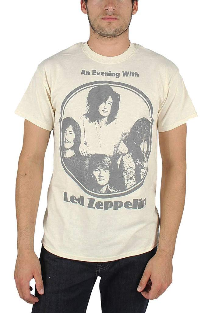 FEA Men's Led Zeppelin Evening With Circle Logo Mens T-Shirt LZ1161
