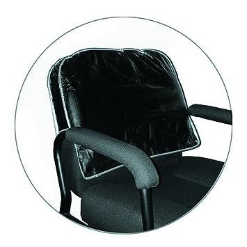 Pleasing Icarus Black Salon Chair Back Cover Round Corner Interior Design Ideas Clesiryabchikinfo