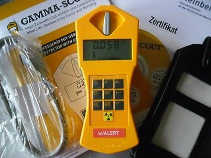 GAMMA de scout Contador Geiger con alarma y ticker Inyección ...