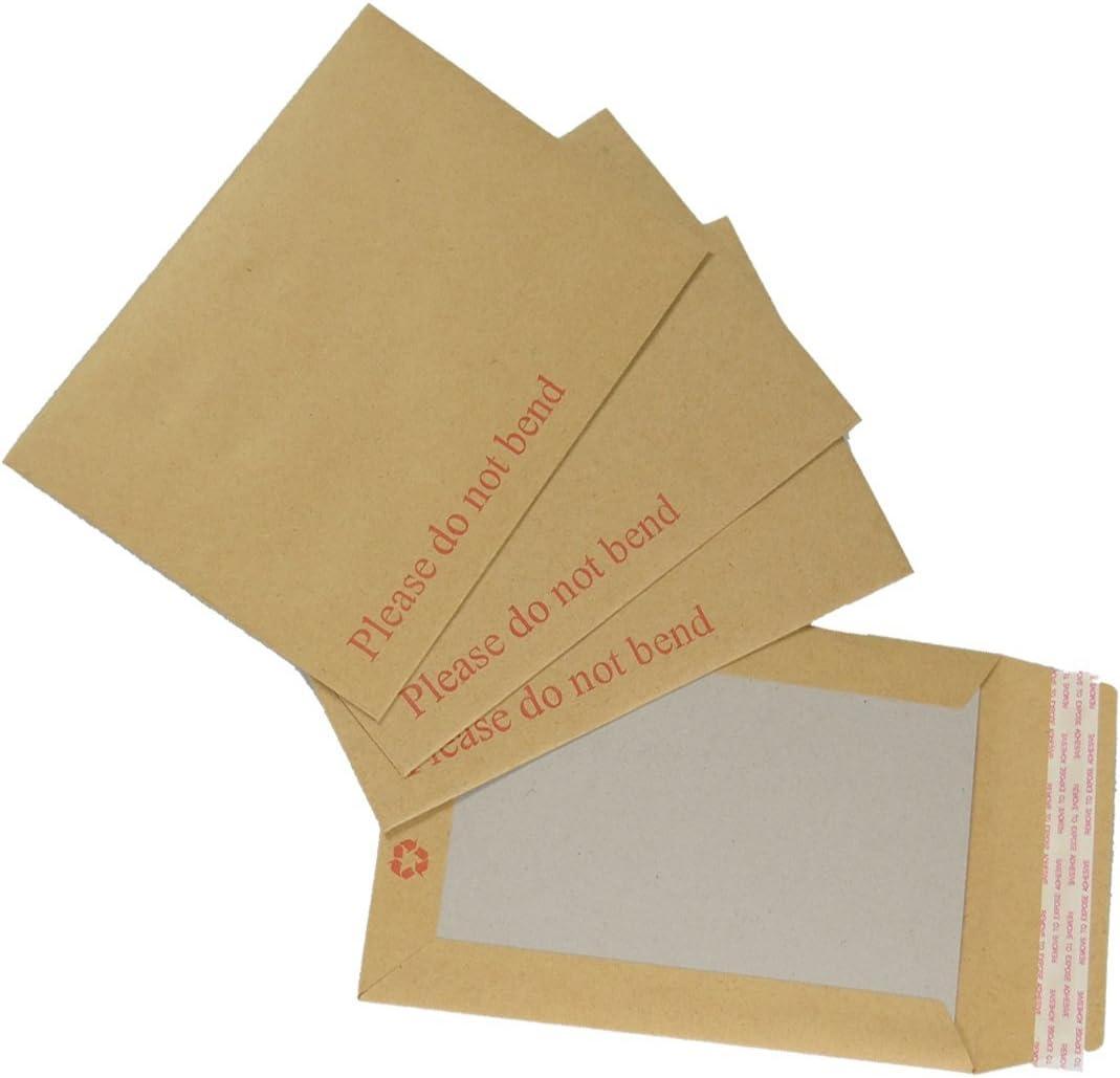 C5 25 x A5 HARD BACK BOARD ENVELOPES CARD BACKED 229 x 162mm