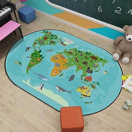 Massage-AED Alfombras para niños Alfombra de Juego para niños Alfombra elíptica Alfombra de jardín de niños de Dibujos Animados Alfombra de Escalada para bebés Regalo Ideal 6MM: Amazon.es: Hogar
