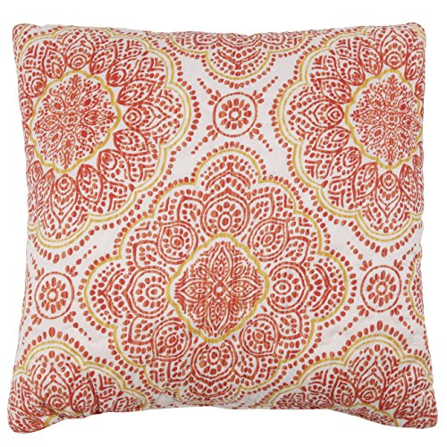 Stylemaster Home Products Trina Reversible Printed Decorative Pillow, 16 by 16-Inch, Cinnamon