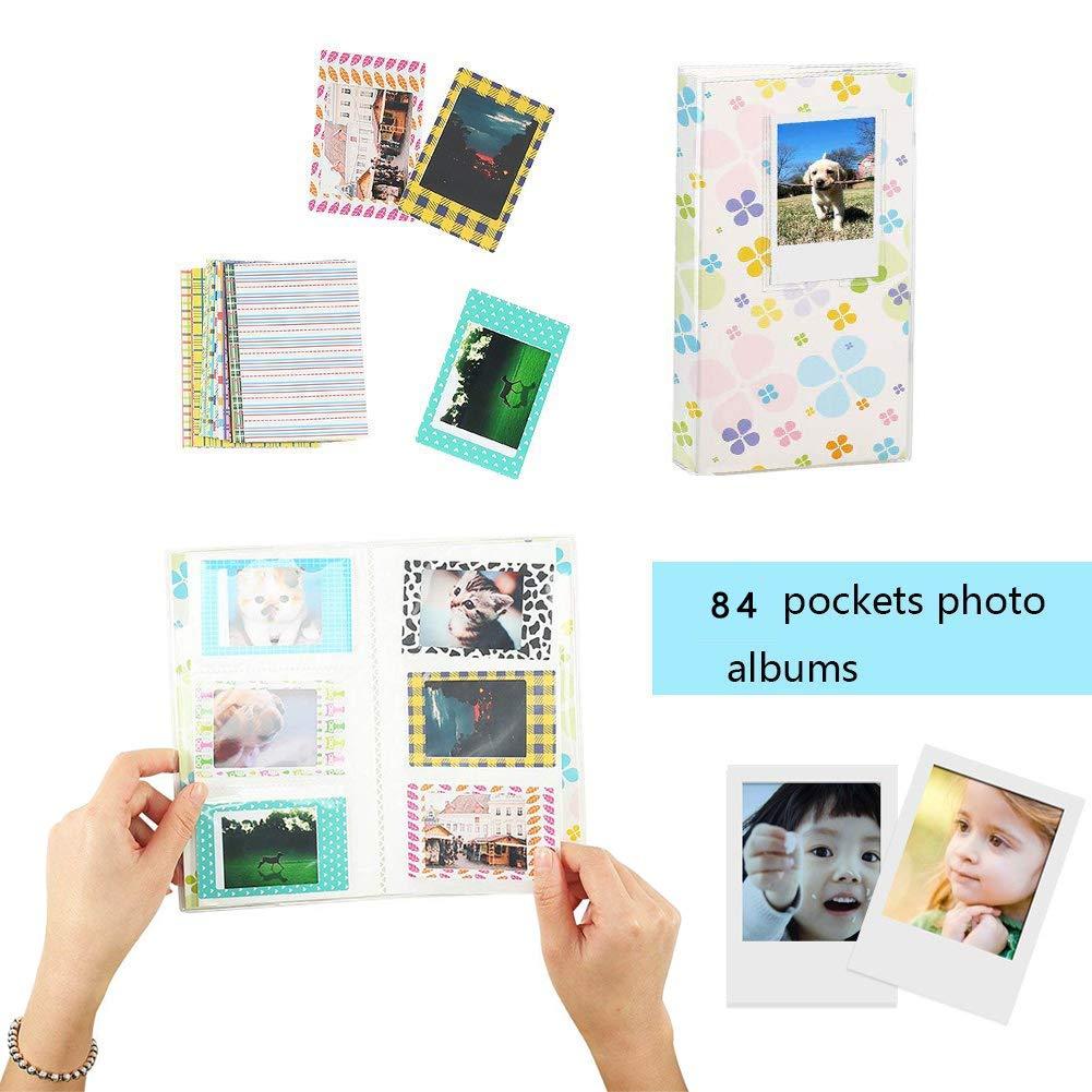 Album Frame Stickers Galaxia Katia Instant Camera Accessories Bundle Compatible for Fujifilm Instax Mini 9 // Mini 8+// Mini 8 Instant Film Camera Strap,etc Includes Camera Case
