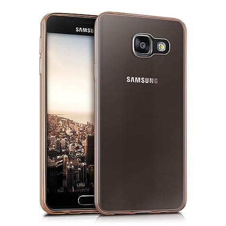 kwmobile Funda para Samsung Galaxy A3 (2016) - Carcasa Protectora de [TPU] para móvil - Cover [Trasero] en [Oro Rosa]