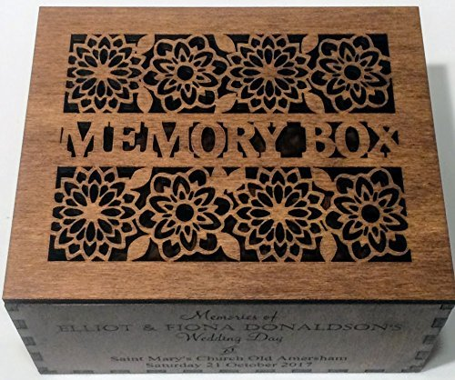 Wooden Memory Box - Personalised Wedding or New Baby Keepsakes Christening Gift