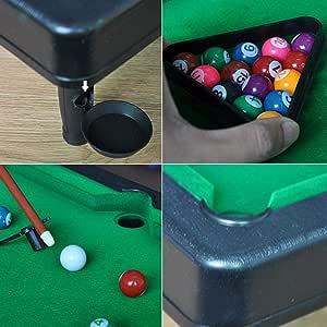 awhao-123 Mini Table Top Pool Snooker, Juego de Billar de Mesa ...