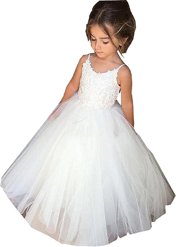 Ruiyuhong First Communion Dress Floor Length Flower Girl Dresses