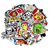 Image of Nuoxinus Car Stickers [250pcs], Laptop Stickers Skateboard Luggage Bike Motorcycle Bumper Stickers, Snowboarding Guitar Helmet Phone Graffiti Decals, Fashion Cool Unique Mix Lot Random Pack