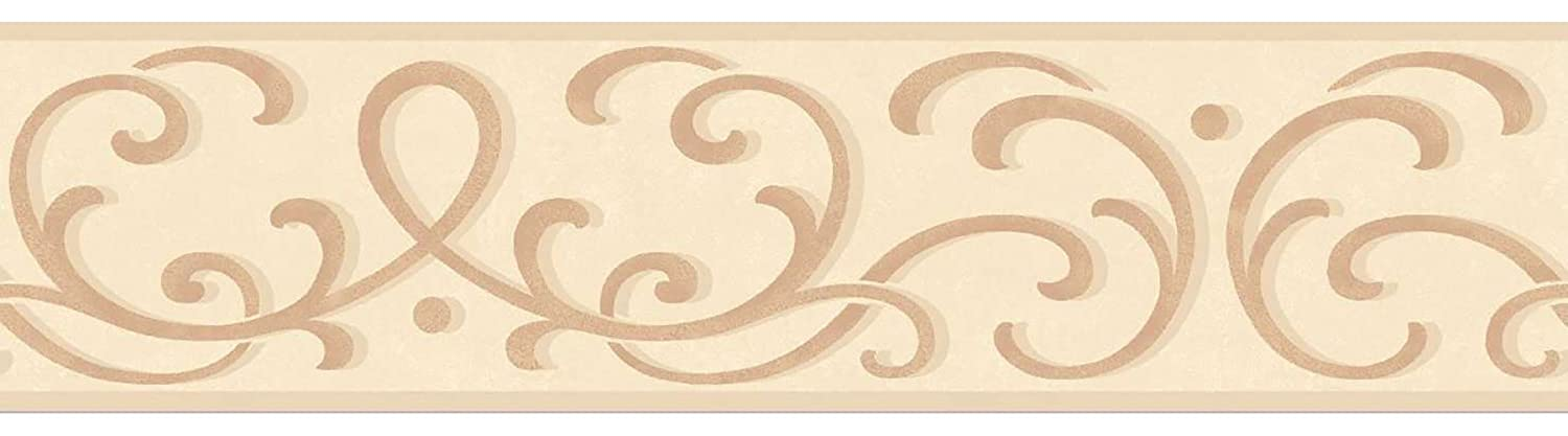 Fine Decor 125 mm Carmen Border, Beige FDB07504S