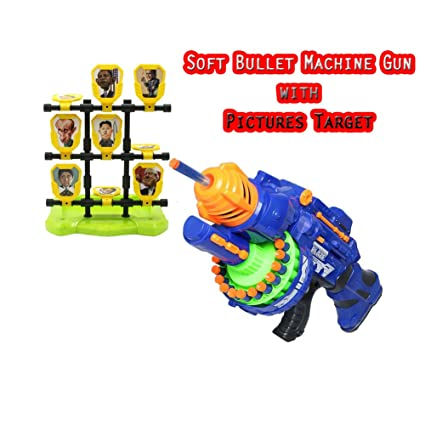 soft bullet batteries machine toy gun with funny picture target christmas gift easter holiday - Target Christmas Toys
