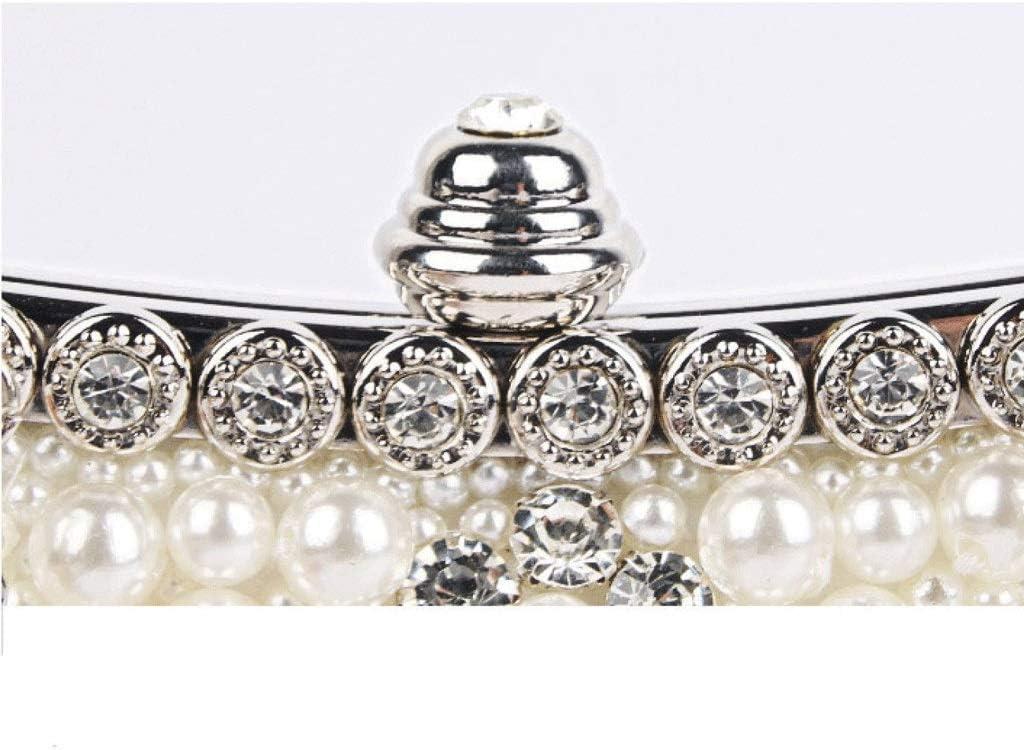 N/A NA Womens Clutch Evening Bags Full Beaded Artificial Pearls Handbag for Wedding Parites Prom (Color : B) B