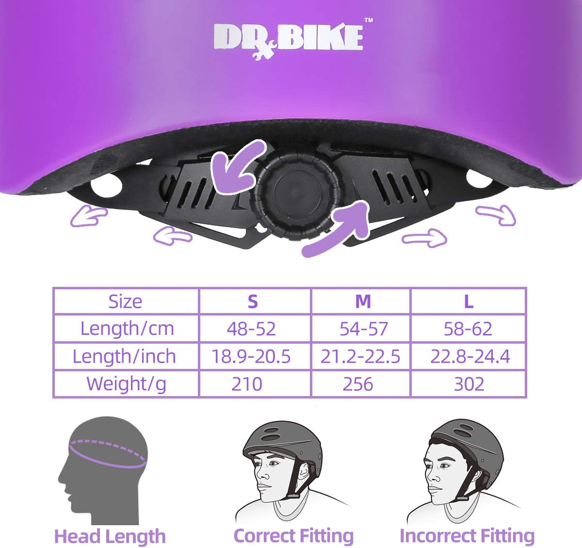 Cycling Protective Gear for Toddler /& Preschool Kids Bike Accessories DRBIKE Starry Kids Bike Helmet for 3-9 Years Boys /& Girls