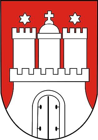 """Auto Aufkleber /"""" HAMBURG /"""" Sticker Stadt Deutschland ca.9x15cm konturge."""