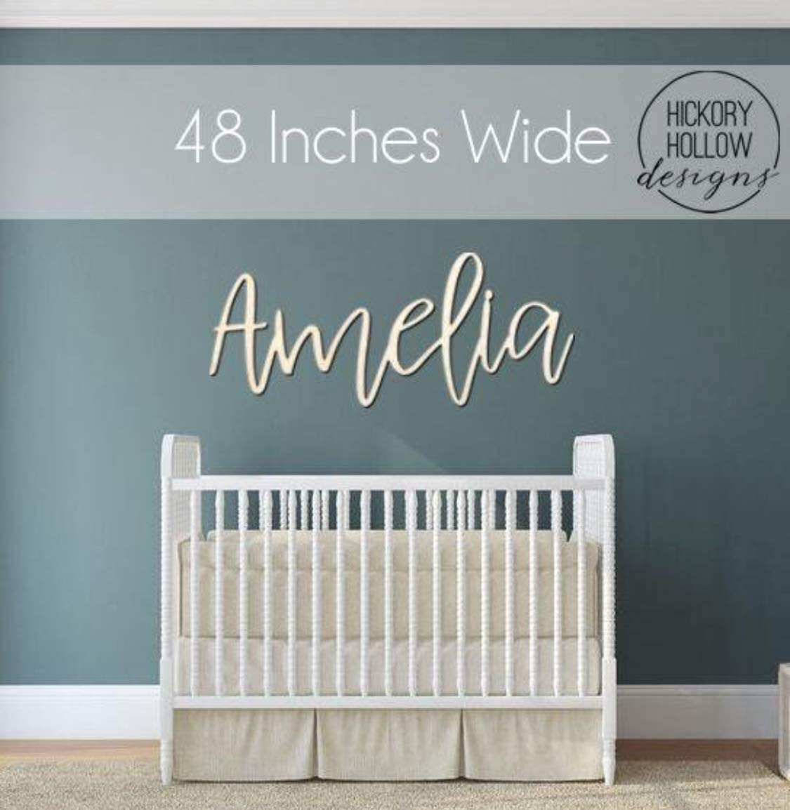 Wood Nursery Name Cut Out, Personalized Baby Name Sign, Nursery Wall Decor, Wooden Name Plaque, Crib and Kids Room Signage