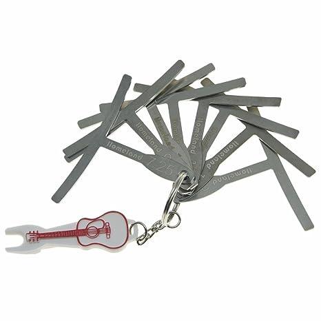 Dopro - Juego de 9 herramientas de luthier para ajuste de puente con extractor de clavijas