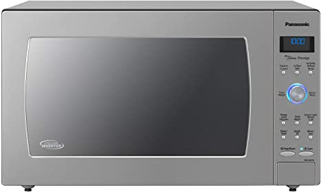 Panasonic Countertop / Built-In Microwave Oven with Cyclonic Wave Inverter Technology and 1250W of Cooking Power - NN-SD975S - 2.2 cu. ft (Stainless ...