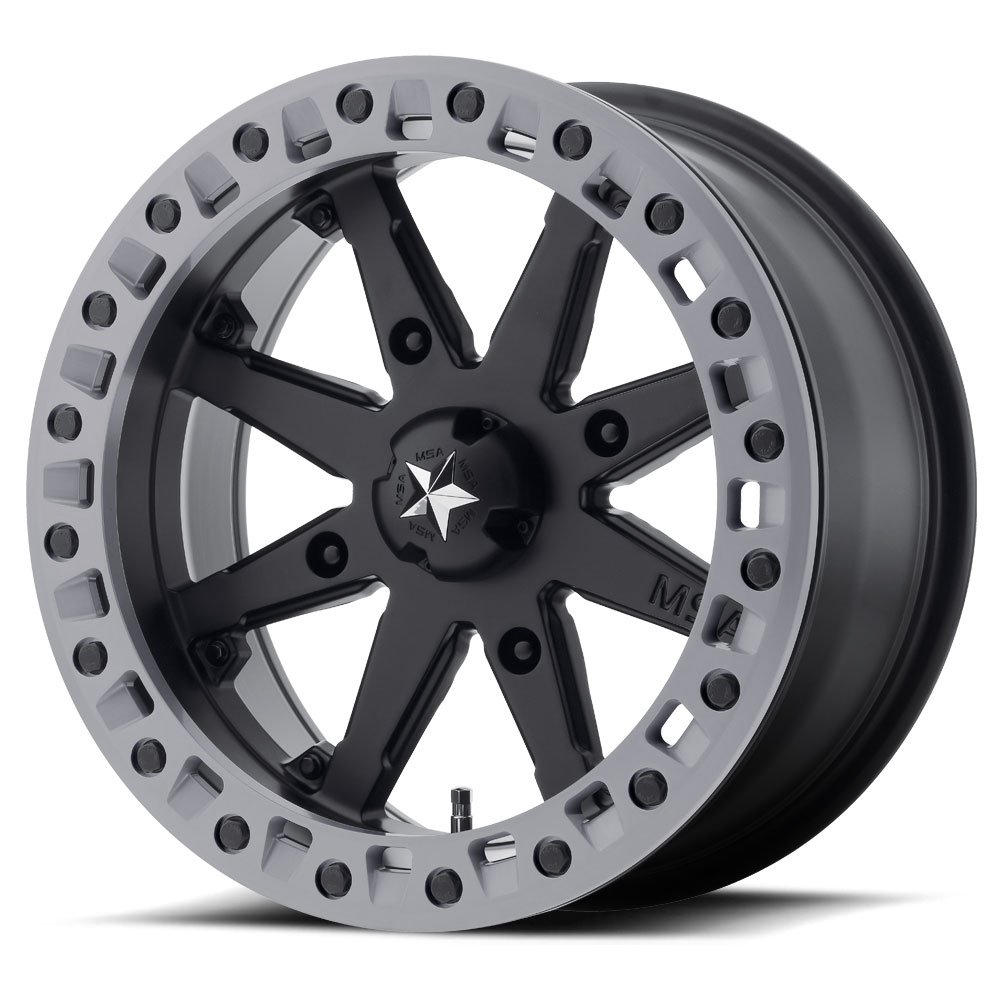4//110 MSA M31 Lok2 Beadlock ATV Wheel M31-06710 Satin Black +0mm 16x7