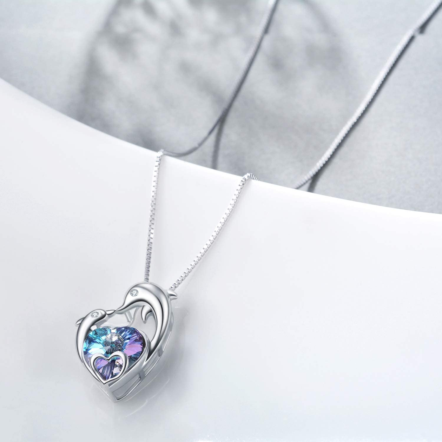 Silver Charm necklace gardening theme with Channel crystalAmethyst Mothers Day