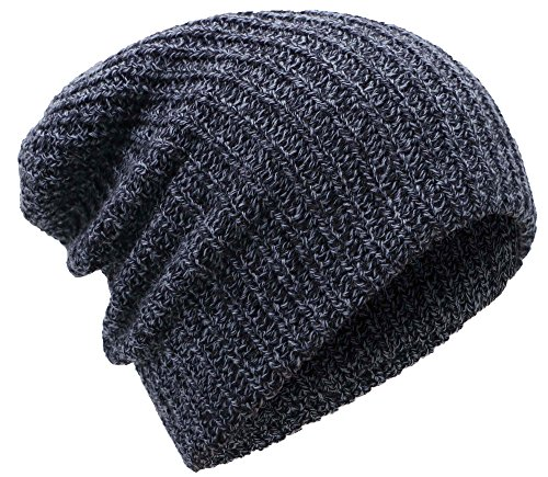 Mens Winter Thick Knit Slouchy Fit Outdoors Ski Beanie Hat
