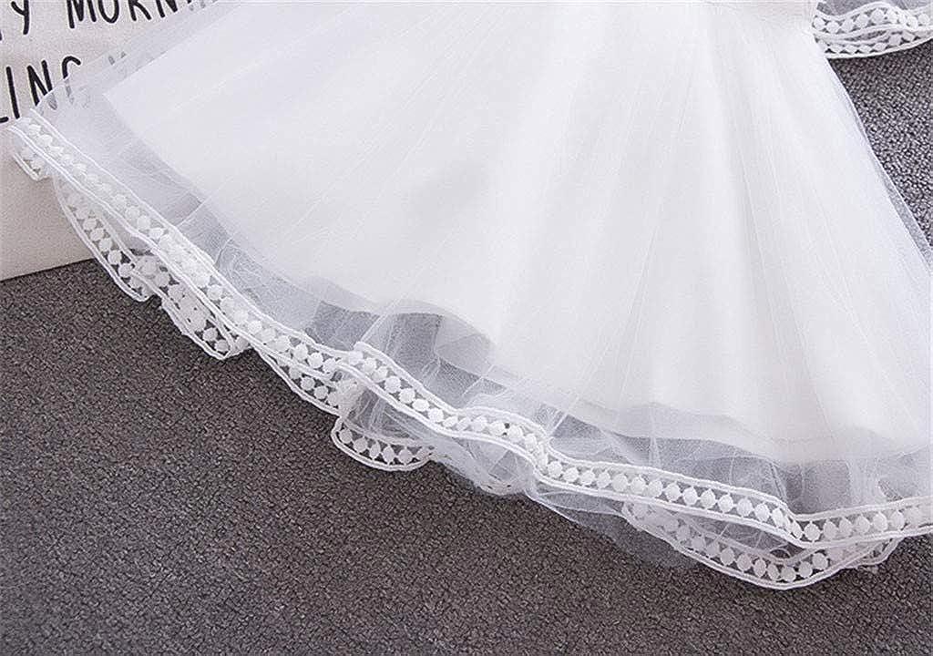 EDTO Toddler Baby Girls Sleeveless Solid Tulle Skirt Floral Petal Mesh Splicing Gauze Puff Princess Dress