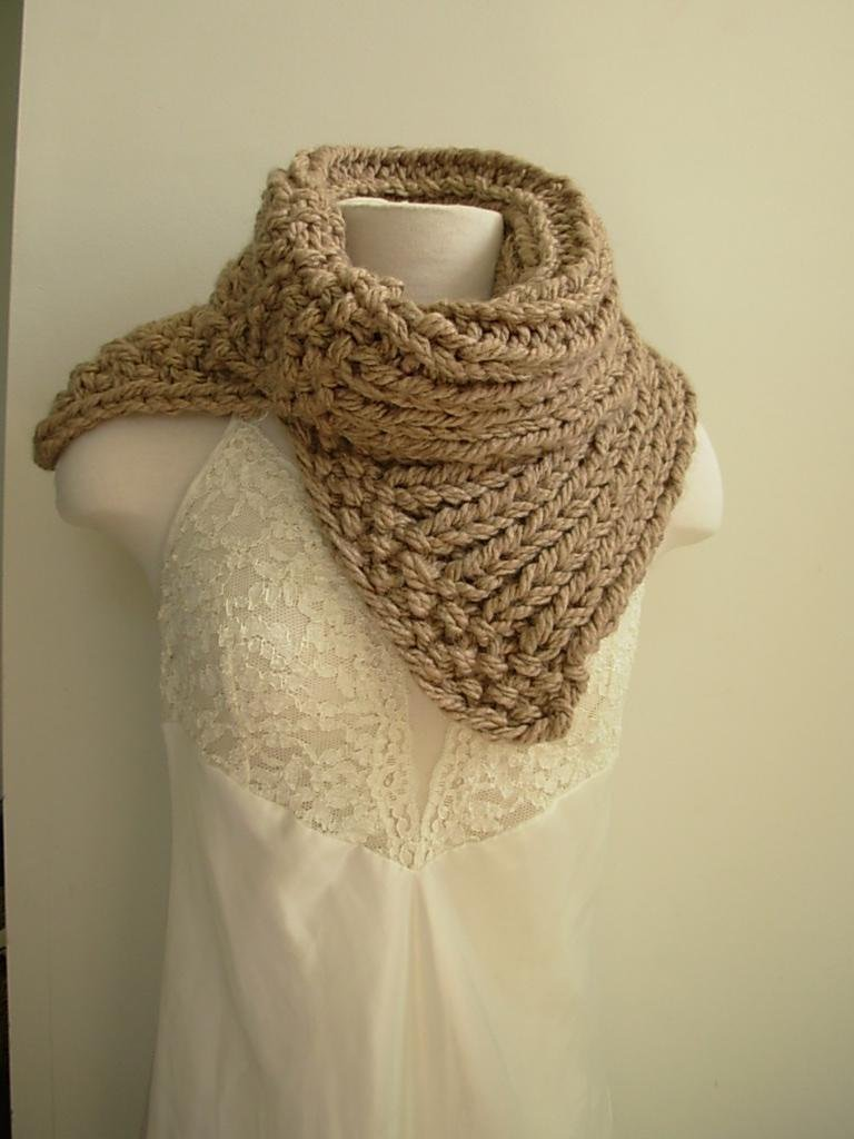 Chunky Split Scarf Taupe Outlander Inspired
