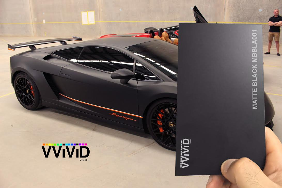 1.5FT X 5FT Black Matte Car Wrap Vinyl Roll with Air Release 3MIL-VViViD8