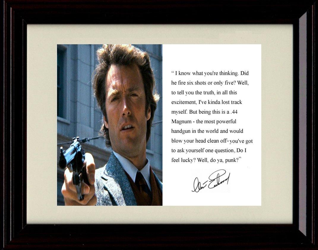 サインフレーム入りクリントイーストウッドレプリカ印刷 – B07F5YG6WR Dirty Harry Dirty Harry Quote B07F5YG6WR, イクタハラチョウ:dd5d428d --- hanjindnb.su