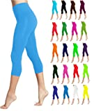 Amazon Price History for:Lush Moda Seamless Capri Length Basic Cropped Leggings - Variety of Colors