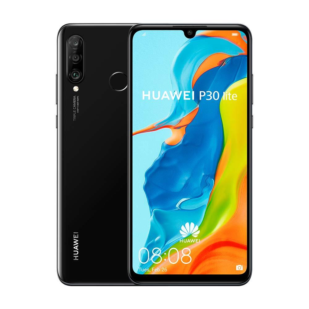 Huawei P30 Lite (128GB, 4GB RAM) 6.15'' Display, AI Triple Camera, 32MP Selfie, Dual SIM Global 4G LTE GSM Factory Unlocked MAR-LX3A - International Version (Midnight Black) by HUAWEI