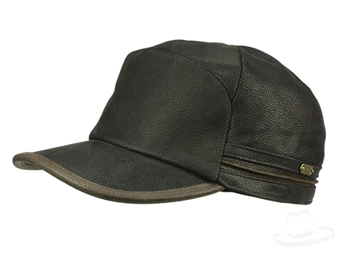 Stetson Men s Army Cap Byers Cowhide - black  Amazon.co.uk  Clothing 56e21e24d4d