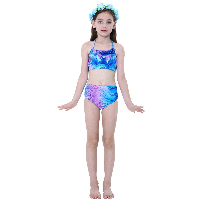 WaterLife Meerjungfrau Flosse Zum Schwimmen Flossen F/ür M/ädchen Kinder Mit Bikini