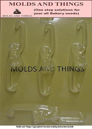 Moldes y cosas para colgar de monos Chocolate moldes para dulces y moldeado de instrucciones © - 3 juego de: Amazon.es: Hogar