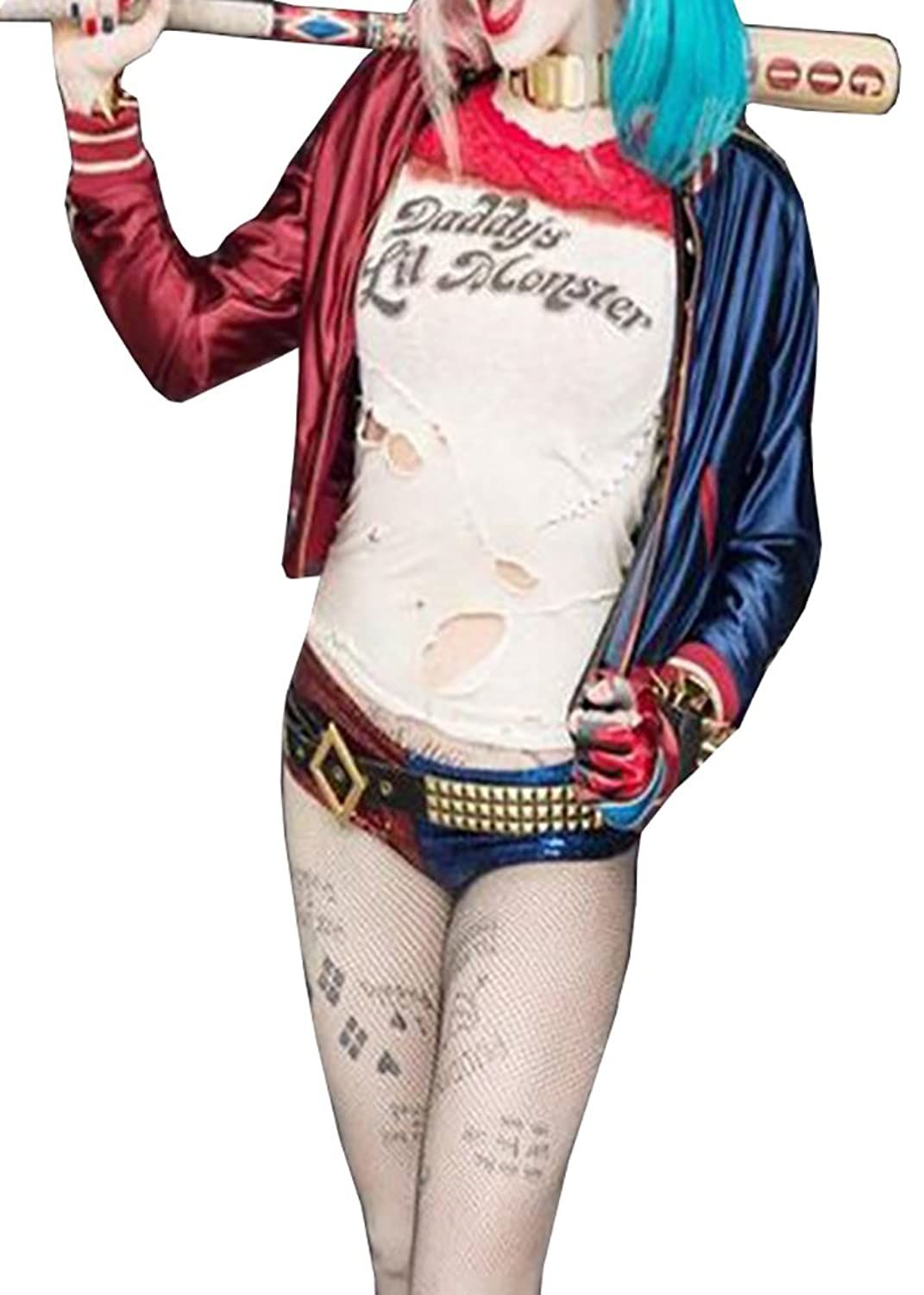 Women's Suicide Squad Deluxe Harley Quinn Cosplay Costume