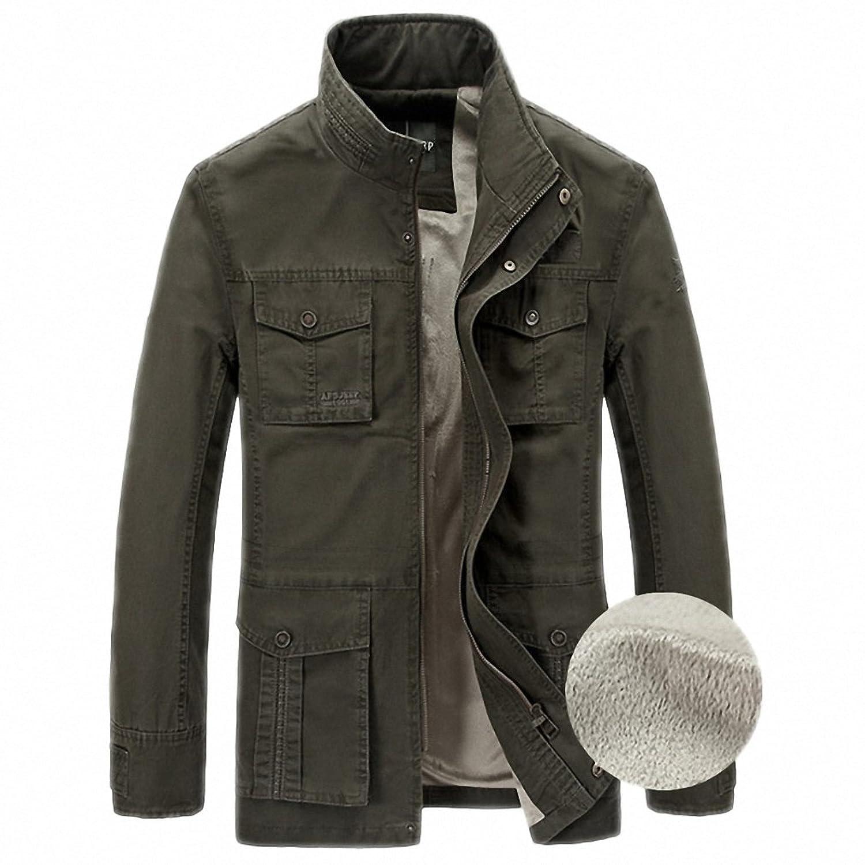 Amazon.com: Jacket Men Winter Jacket Men Fleece Warm Outerwear Casual Loose Plus Size M-4XL Windbreaker Coat Male: Clothing