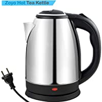 Zoyo Electric Kettle/Kettle/Tea Kettle/Tea and Coffee Maker/Milk Boiler/Water Boiler/Tea Boiler/Coffee Boiler/Water Heater/Stainless Steel Kettle/1.8 Liter Stainless Steel Electric Kettle