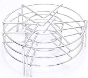 Steam Rack Trivet Stainless Steel Steaming Rack Electric Pressure Cooker steam rack Stand Diameter 6