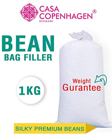 Casa Copenhagen Premium 1 Kg Bean Bag Refill/Filler - Feather White