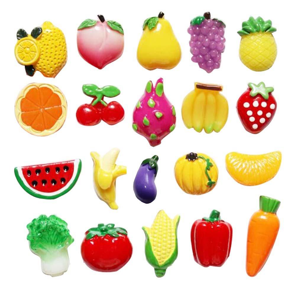 Adesivi per magneti frigo creativi Set di magnete per frigo frutti di frutta (20 pezzi) Black Temptation