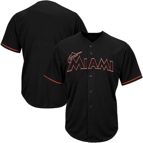 df89da39 Amazon.com : VF Miami Marlins MLB Mens Majestic Black Fashion Jersey ...