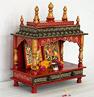 Buy Handpainted wooden Home temple, wall hanging Online at Low ...
